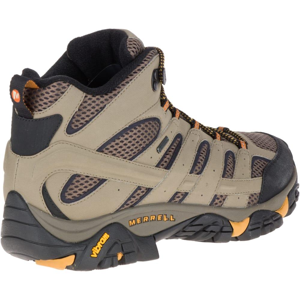 MERRELL Men's Moab 2 Mid Gore-Tex Hiking Boots, Walnut - WALNUT