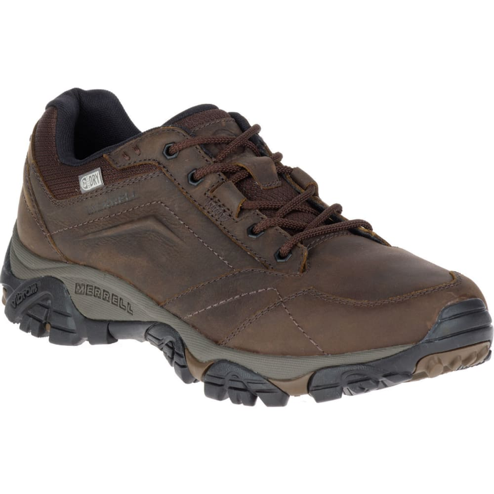 MERRELL Men's Moab Adventure Lace Waterproof Hiking Shoes, Dark Earth - DARK EARTH