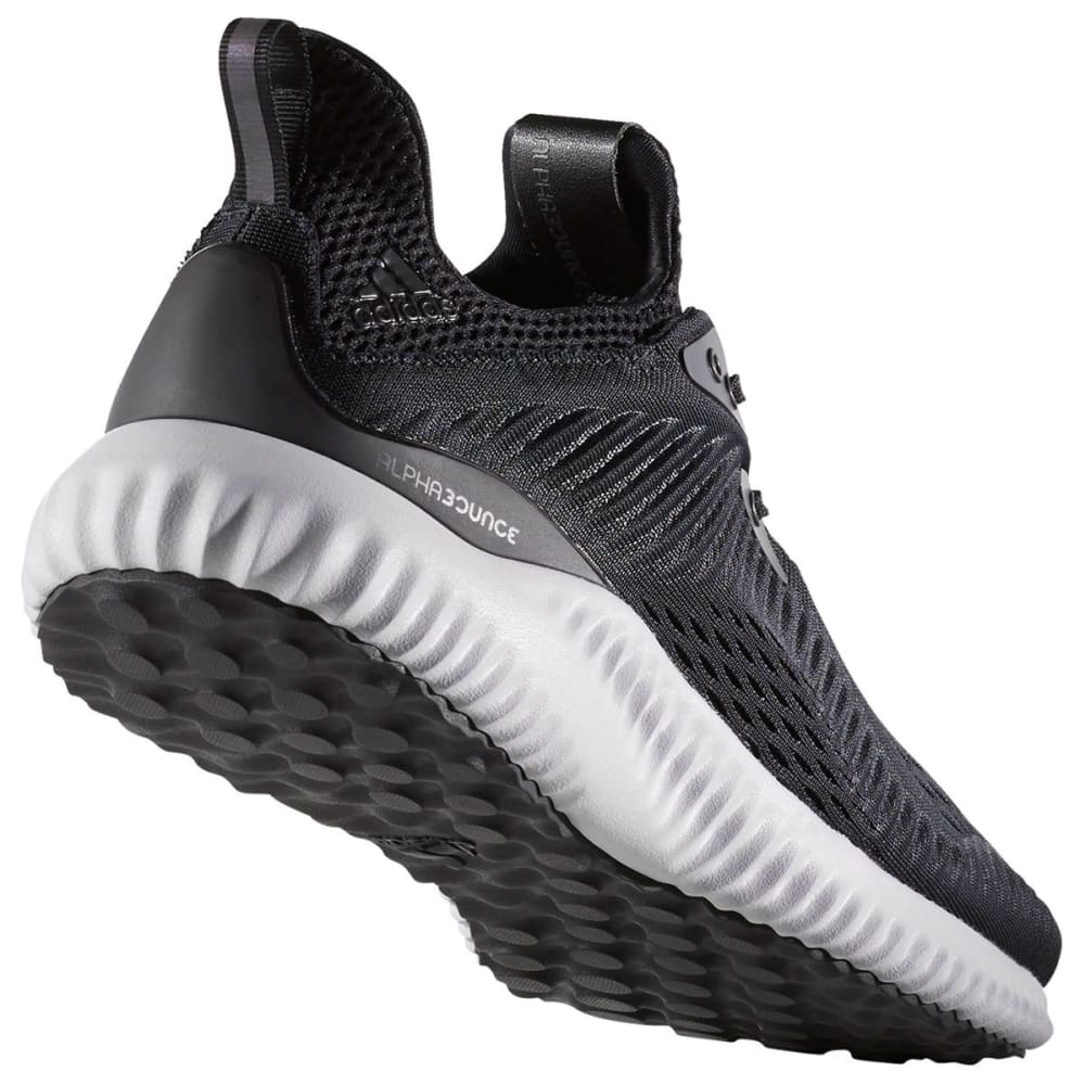 ADIDAS Men's AlphaBounce EM Running Shoes, Black/White - BLACK
