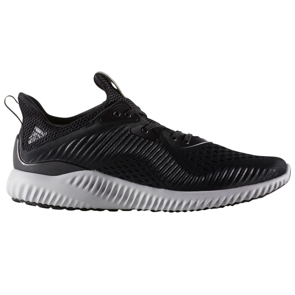 ADIDAS Men's AlphaBounce EM Running Shoes, Black/White - BLACK