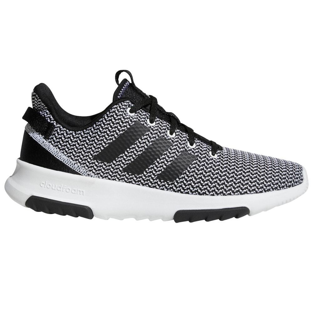 ADIDAS Men's Neo Cloudfoam Racer TR Running Shoes, White/Black - WHITE