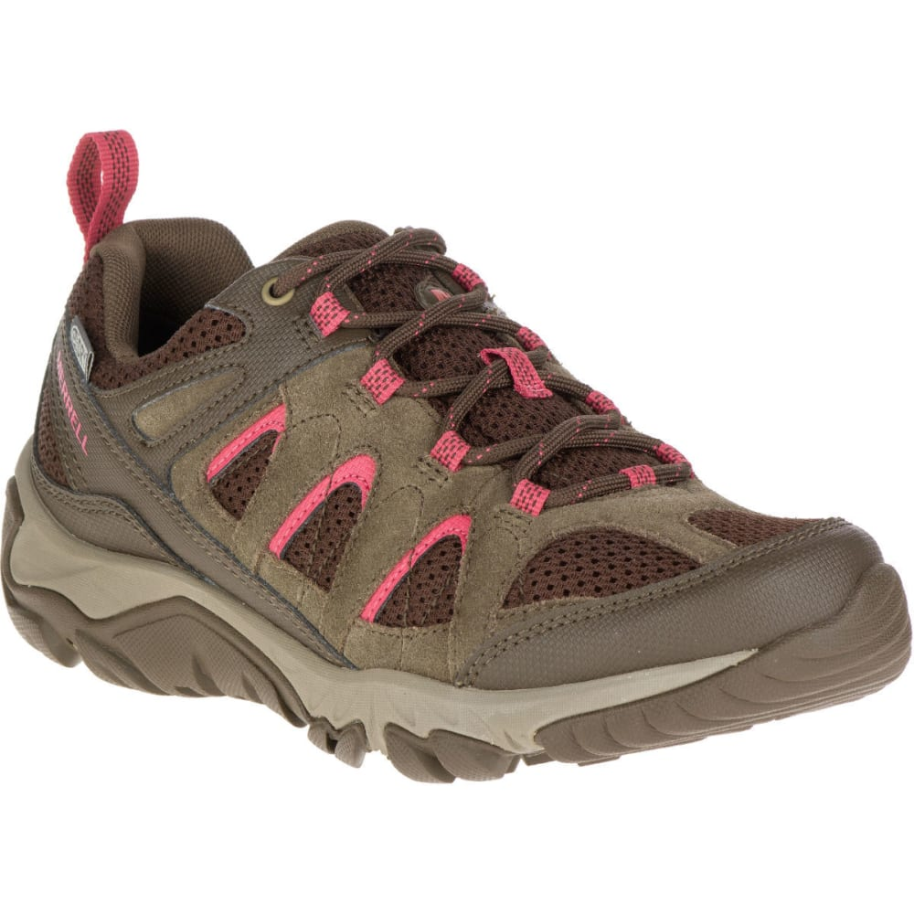 Merrell Women's Outmost Ventilator Waterproof Hiking Shoes, Canteen - Various Patterns, 7