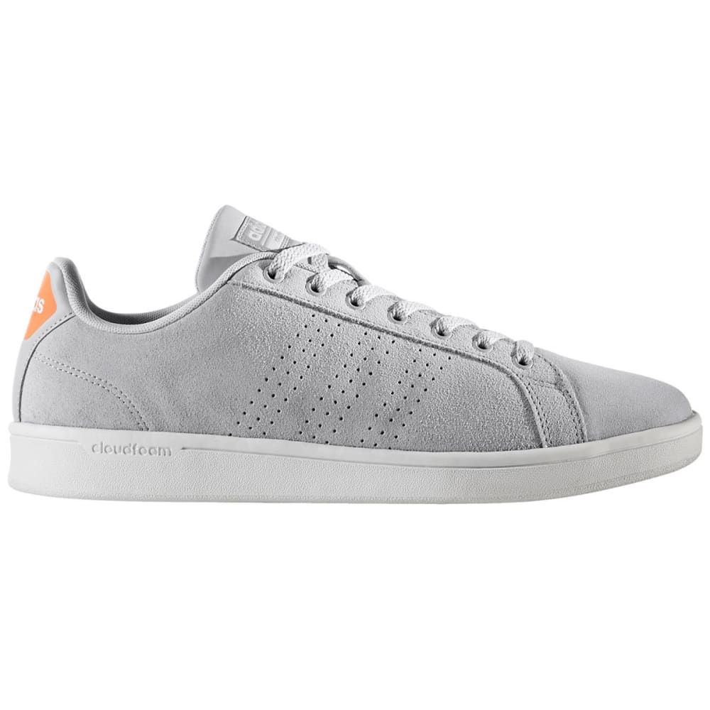 ADIDAS Men's Cloudfoam Advantage Clean Skate Shoes, Clean Grey/Grey Two/White 7.5