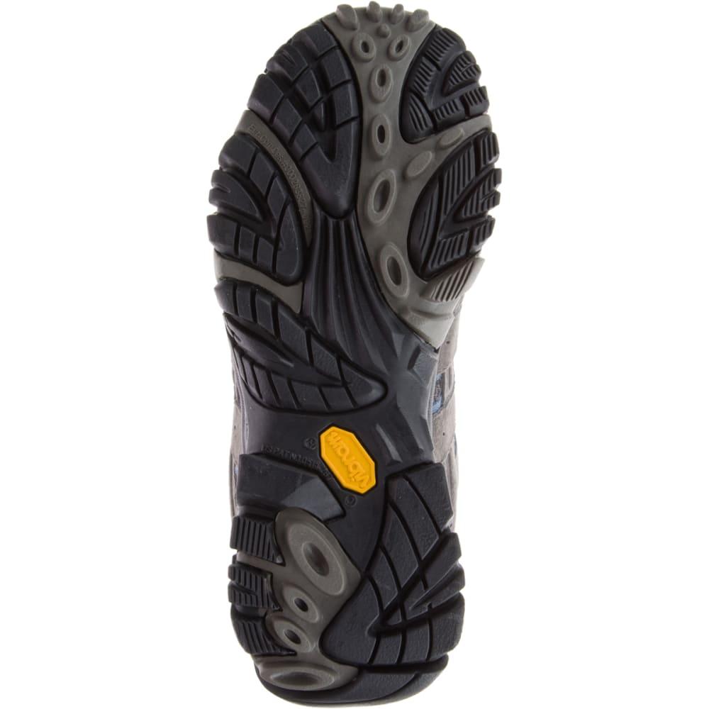 MERRELL Women's Moab 2 Mid Waterproof Hiking Boots, Granite , Wide - GRANITE