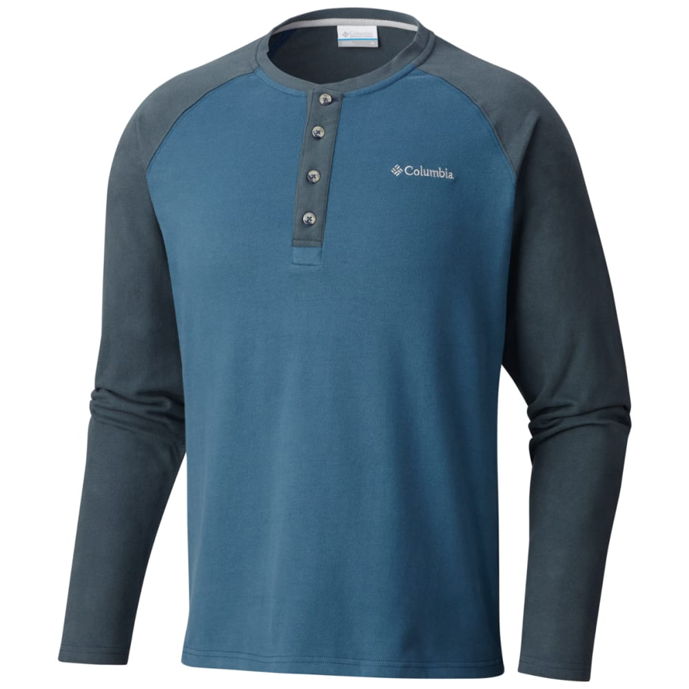 COLUMBIA Men's Ward River Long Sleeve Henley Shirt M
