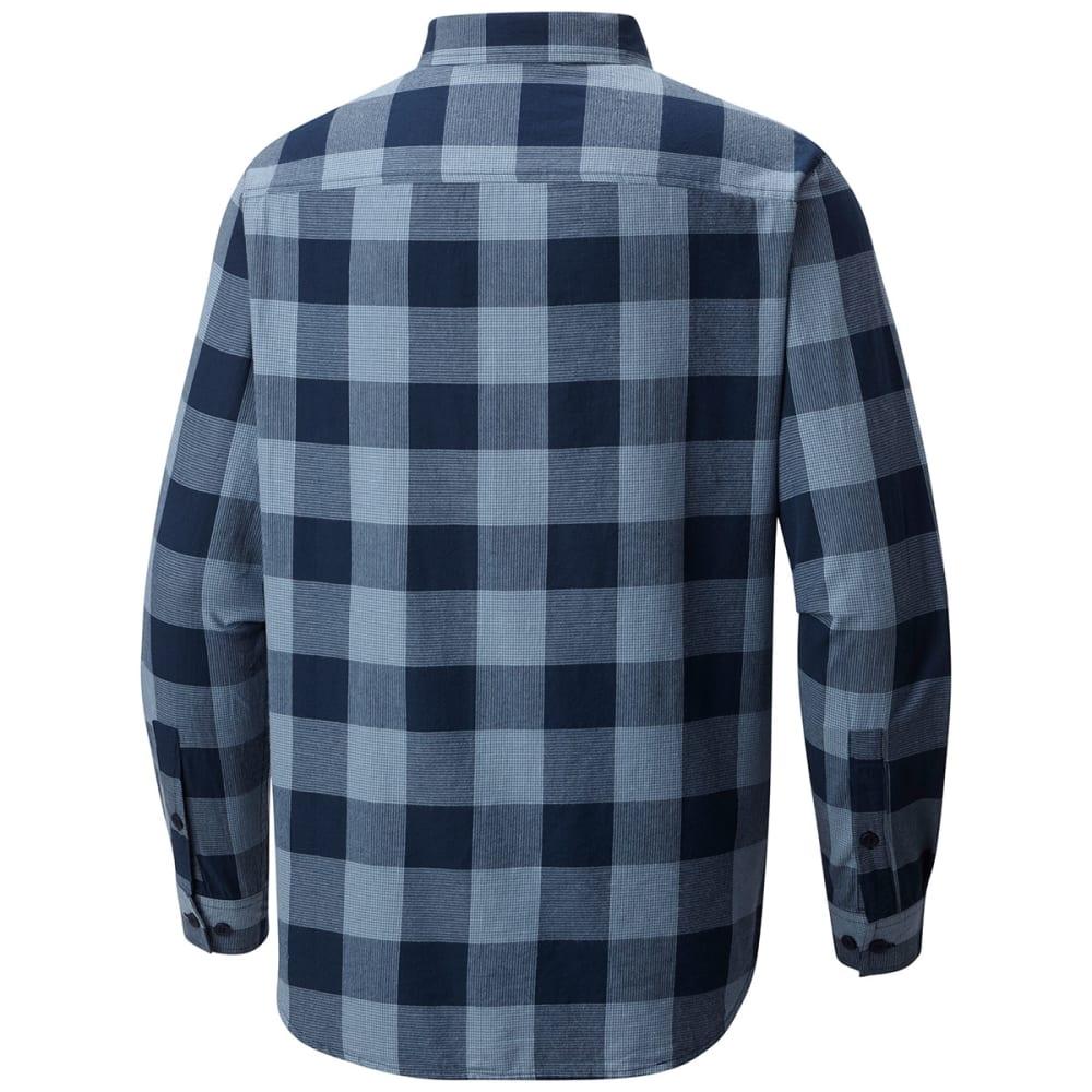COLUMBIA Men's Cooper Lake Plaid Long-Sleeve Shirt - DK MIRAGE CHK-411