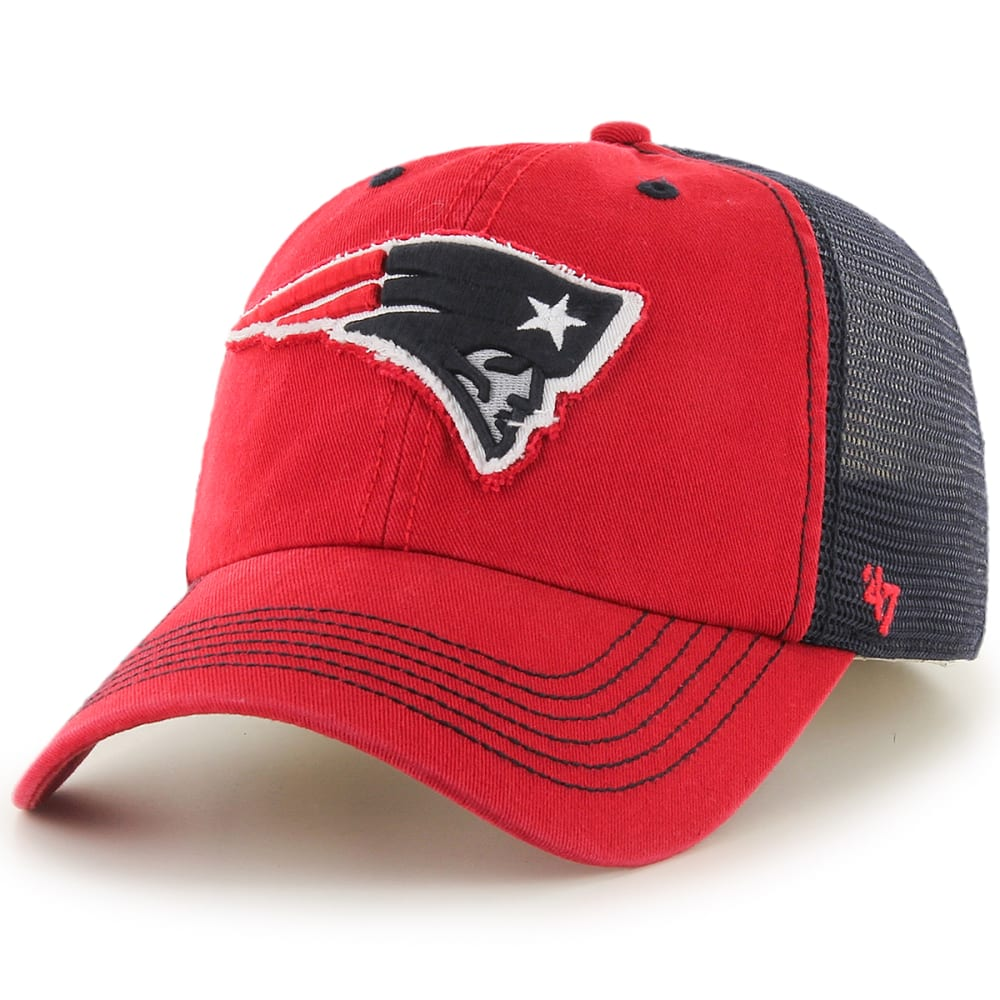 New England Patriots Men's Taylor '47 Closer Fitted Cap - Red, ONESIZE