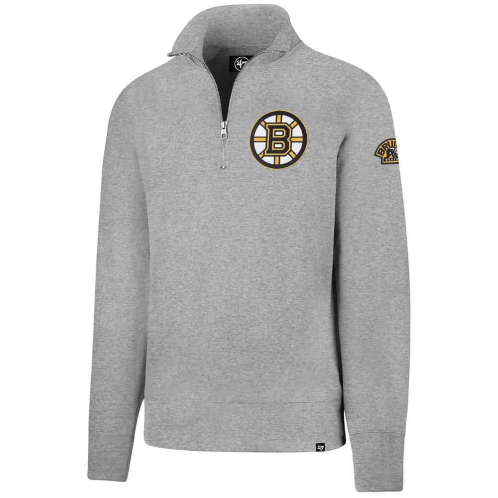 BOSTON BRUINS Men's '47 Sport ¼-Zip Fleece Long-Sleeve Pullover - GREY