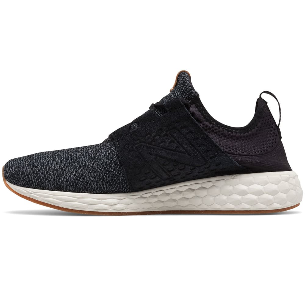 NEW BALANCE Men's Fresh Foam Cruz V1 Running Shoes, Black/Sea Salt/Gum Rubber - BLACK