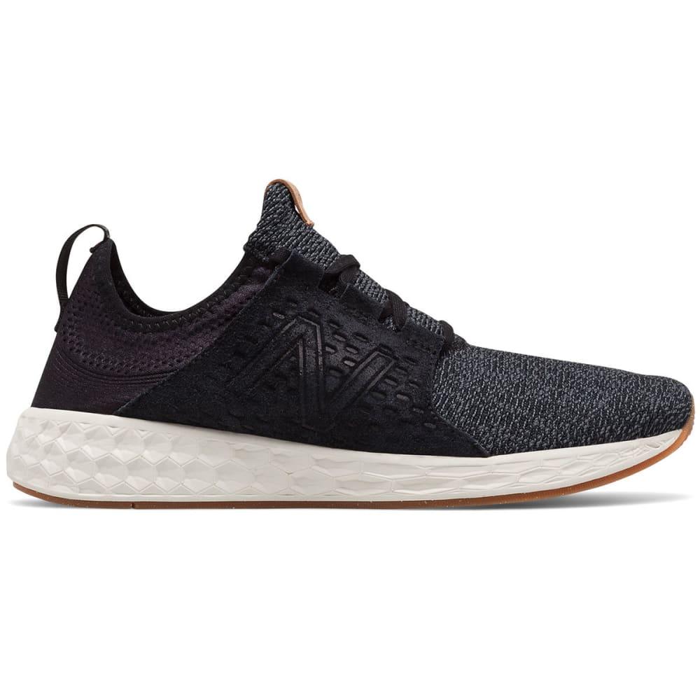 New Balance Men's Fresh Foam Cruz V1 Running Shoes, Black/sea Salt/gum Rubber