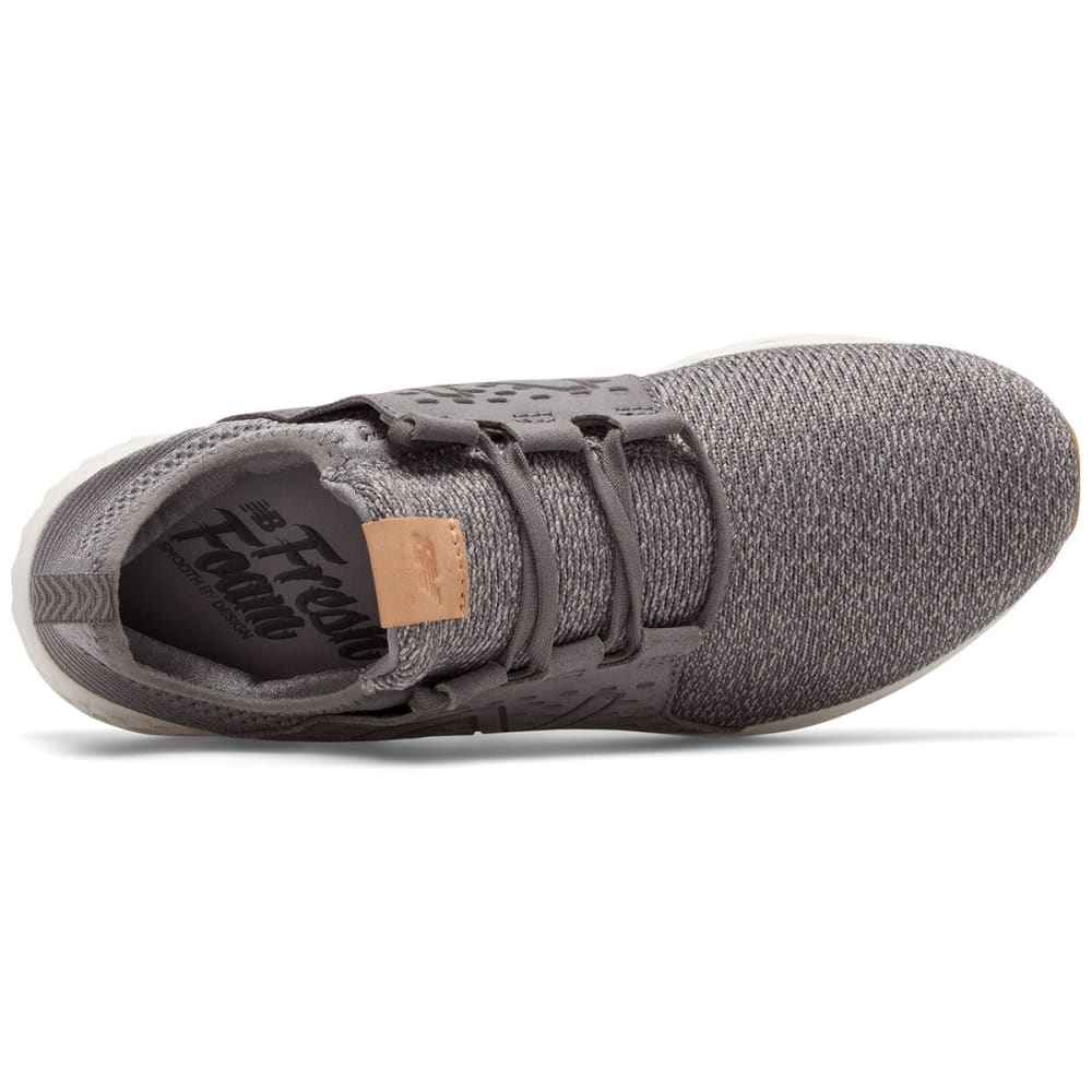 NEW BALANCE Men's Fresh Foam Cruz V1 Running Shoes, Castlerock/Sea Salt/Gum Rubber - CASTLEROCK