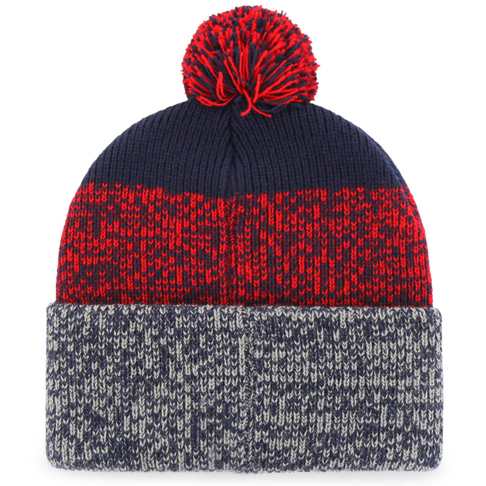 NEW ENGLAND PATRIOTS Men's '47 Static Knit Cuffed Pom Beanie - NAVY