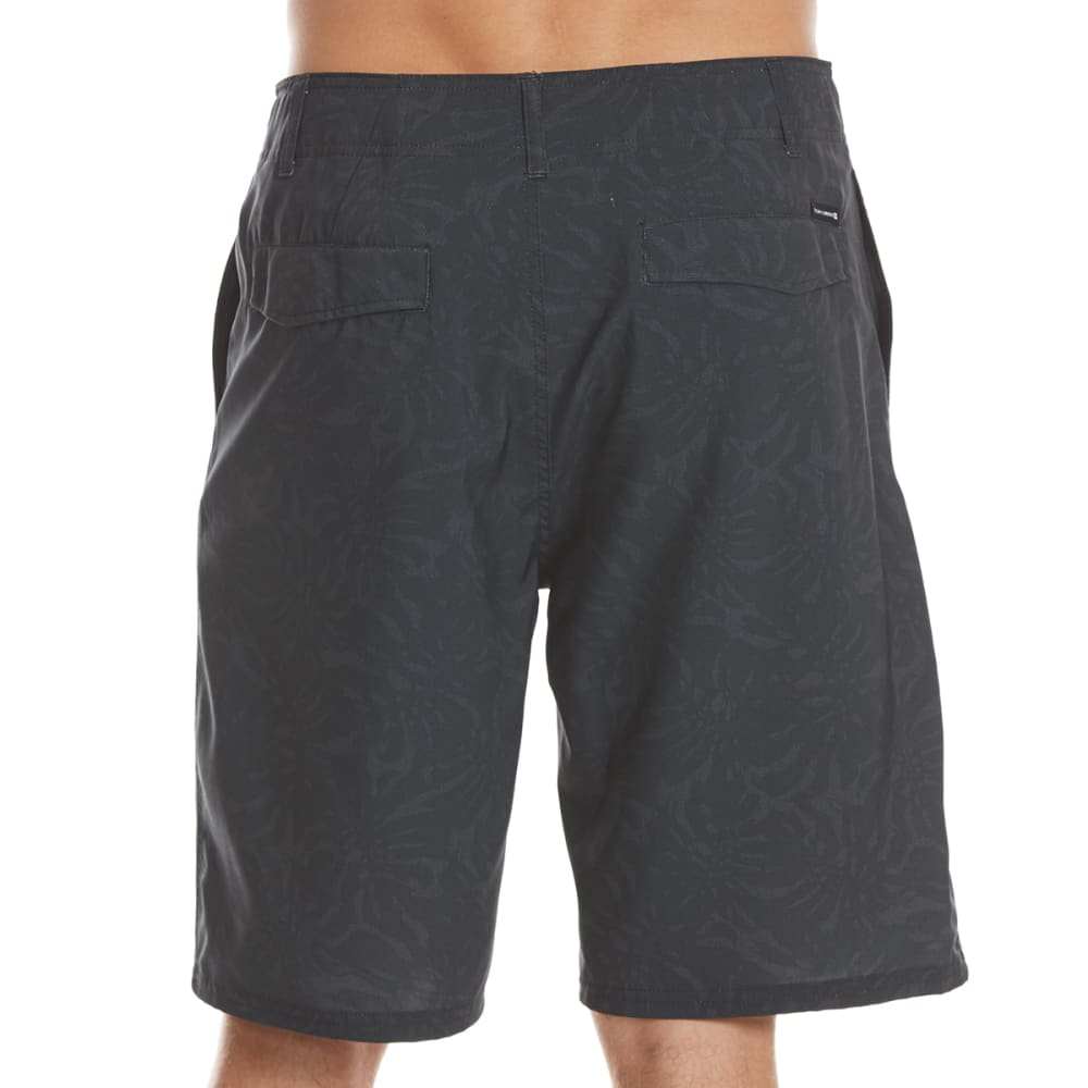 OCEAN CURRENT Guys' Tonal Fern Amphibious Shorts - BLACK