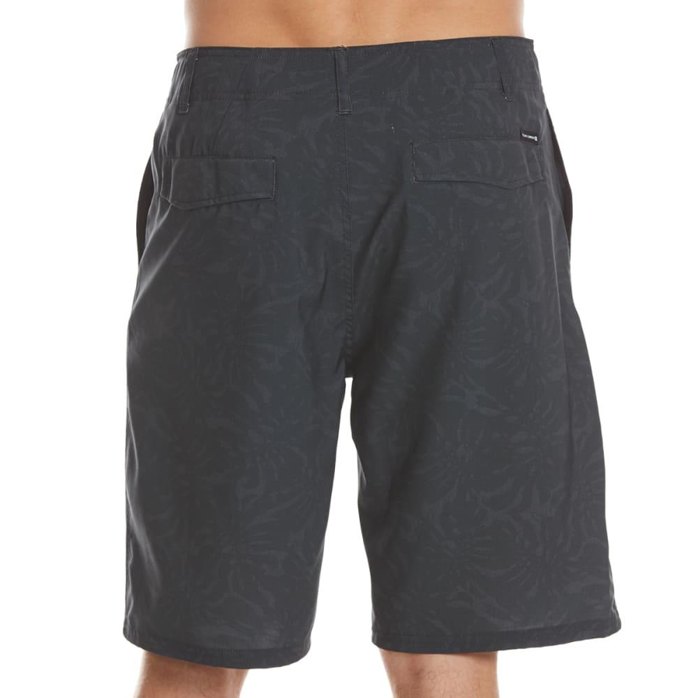 OCEAN CURRENT Guys' Tonal Fern Amphibious Shorts - BLACK