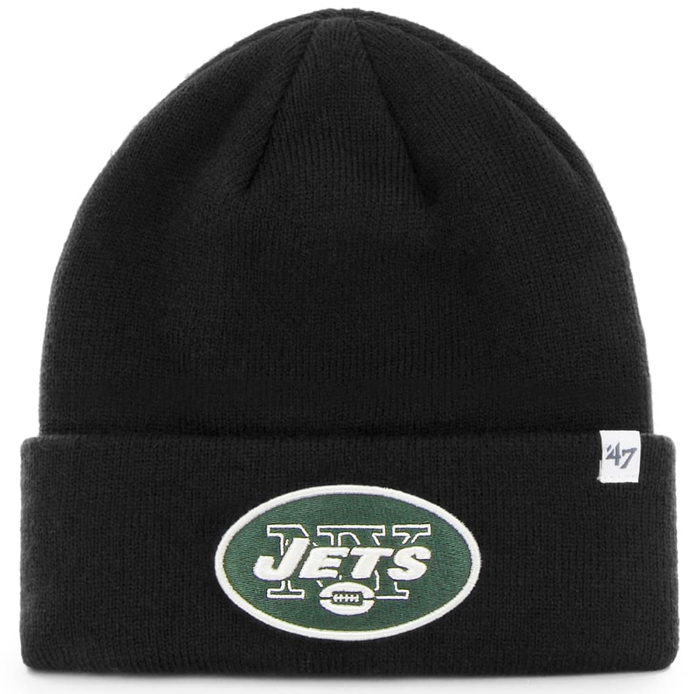 NEW YORK JETS Men's '47 Raised Cuffed Beanie - BLACK
