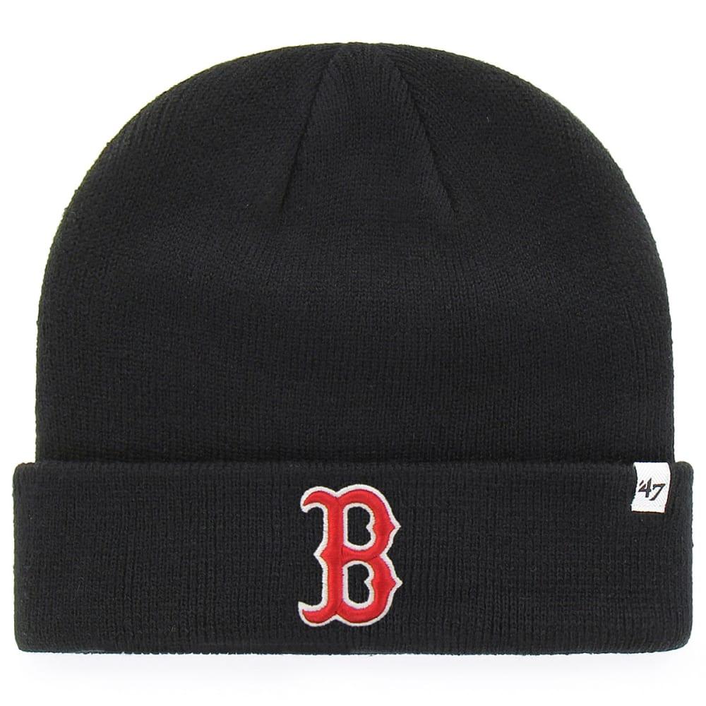 BOSTON RED SOX Men's '47 Raised Cuffed Beanie - BLACK