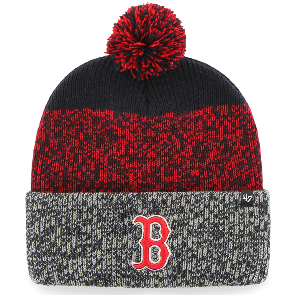 BOSTON RED SOX Men's '47 Static Knit Cuffed Pom Beanie - RED