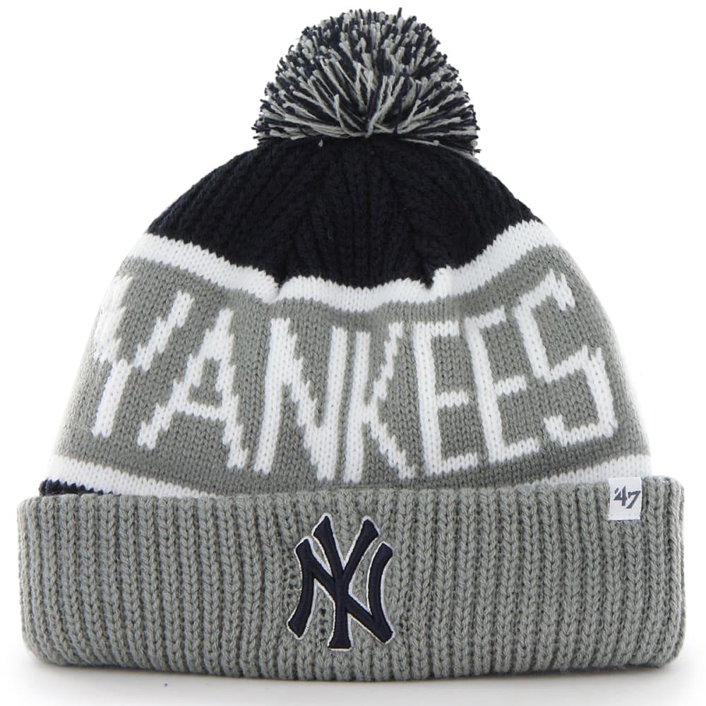 NEW YORK YANKEES '47 Calgary Cuffed Pom Knit Beanie ONE SIZE