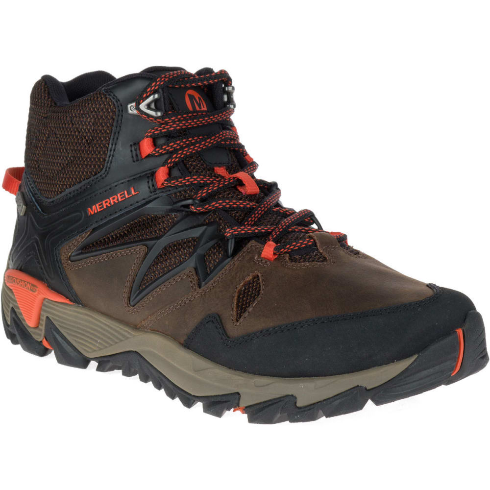 Merrell Men's All Out Blaze 2 Mid Waterproof Hiking Boots, Clay - Brown, 8