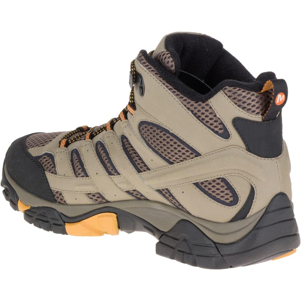 MERRELL Men's Moab 2 Mid Gore-Tex Hiking Boots, Walnut, Wide - WALNUT