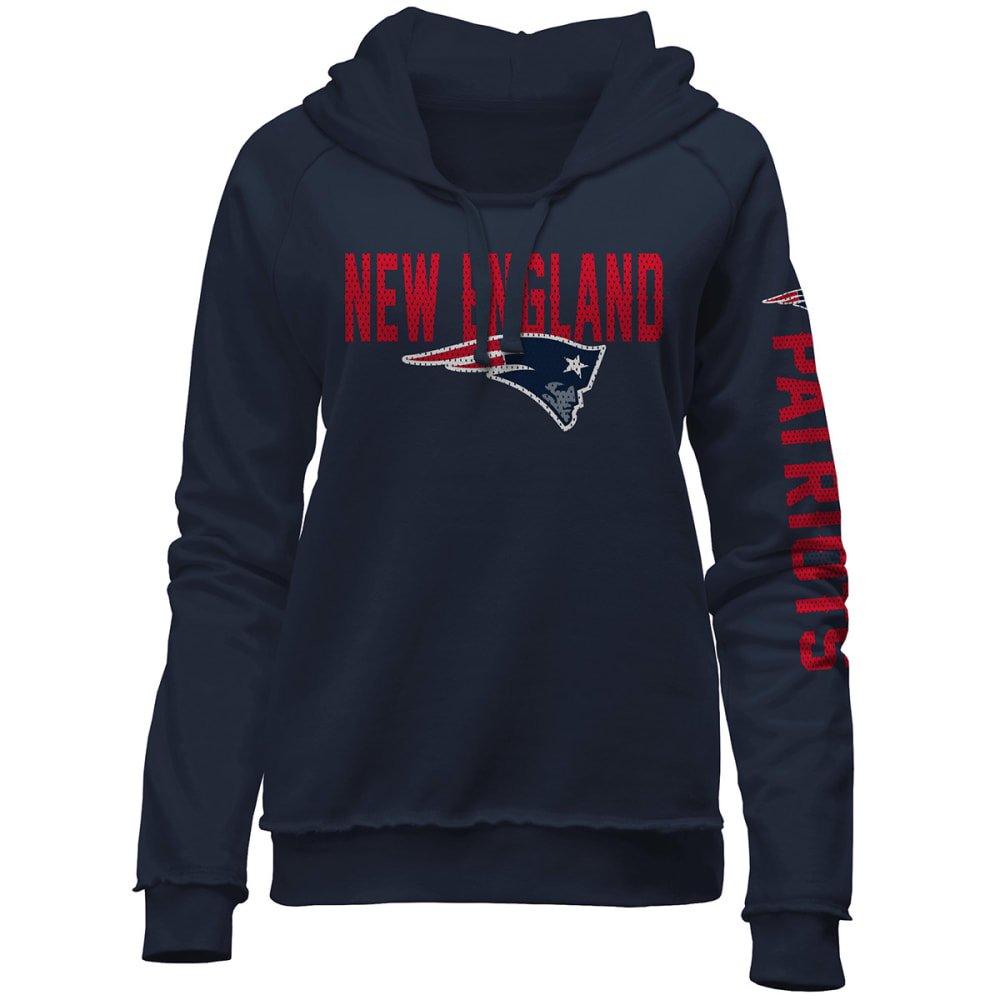 NEW ENGLAND PATRIOTS Women's Wordmark Pullover Hoodie - NAVY