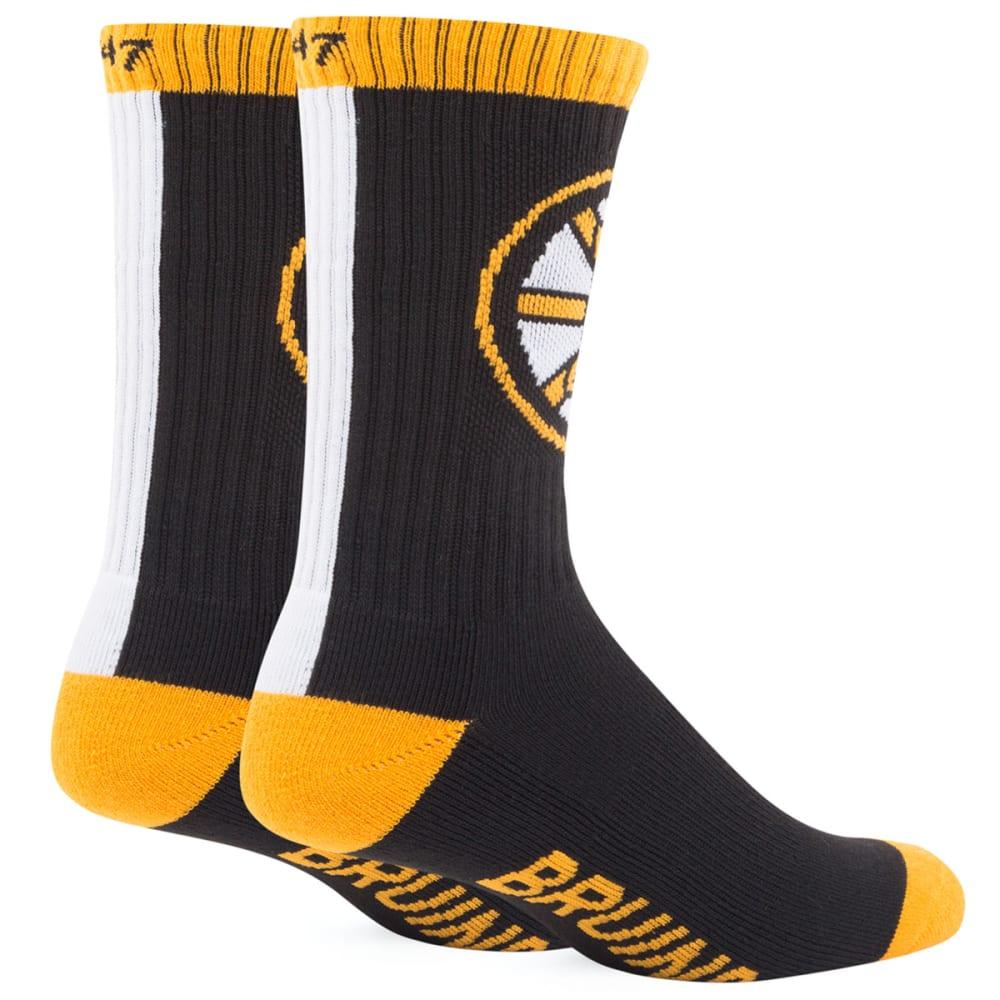 BOSTON BRUINS '47 Bolt Crew Socks - BLACK