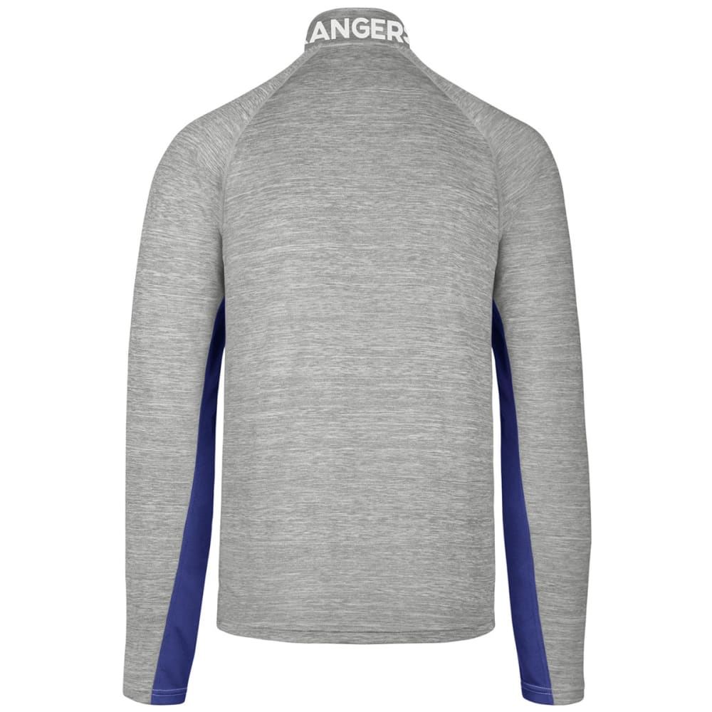 NEW YORK RANGERS Men's Microlite ¼-Zip Pullover - GREY