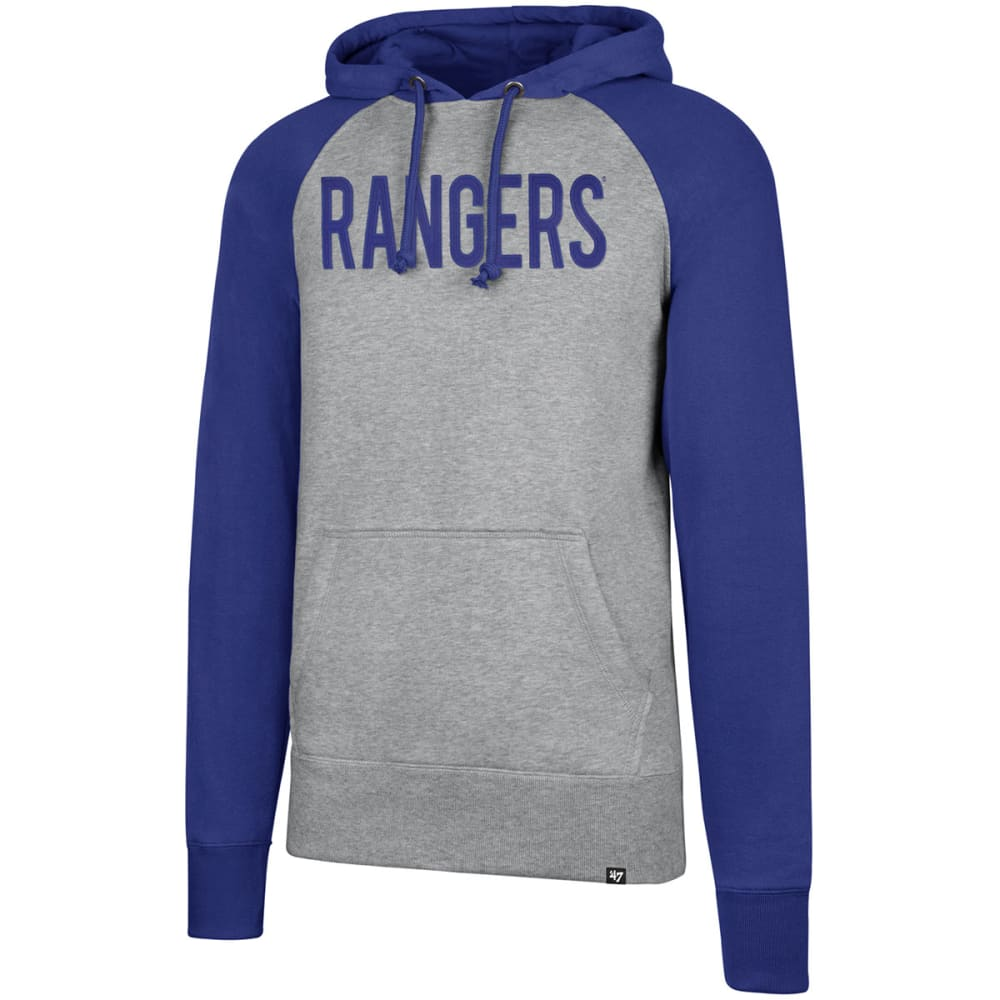New York Rangers Men's Raglan Slate Sport Fleece Pullover Hoodie - Black, M