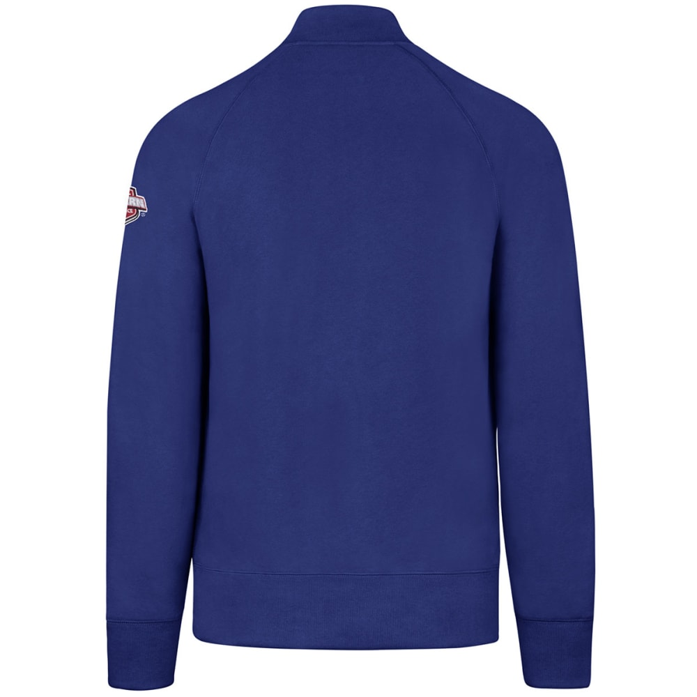 NEW YORK RANGERS Mens 1/4 Zip Fleece Long-Sleeve Pullover - ROYAL BLUE