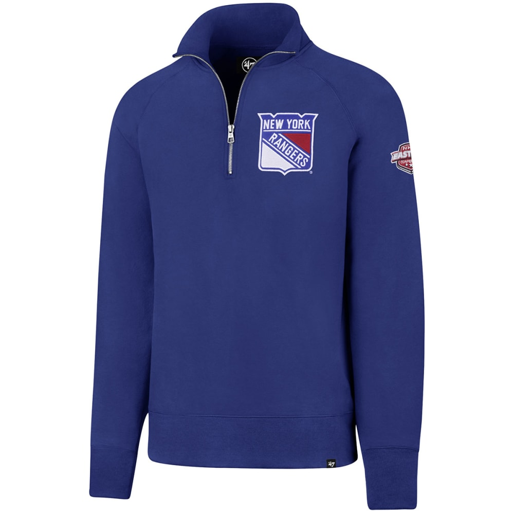 New York Rangers Men's 47 Sport  1/4-Zip Fleece Long-Sleeve Pullover - Blue, M