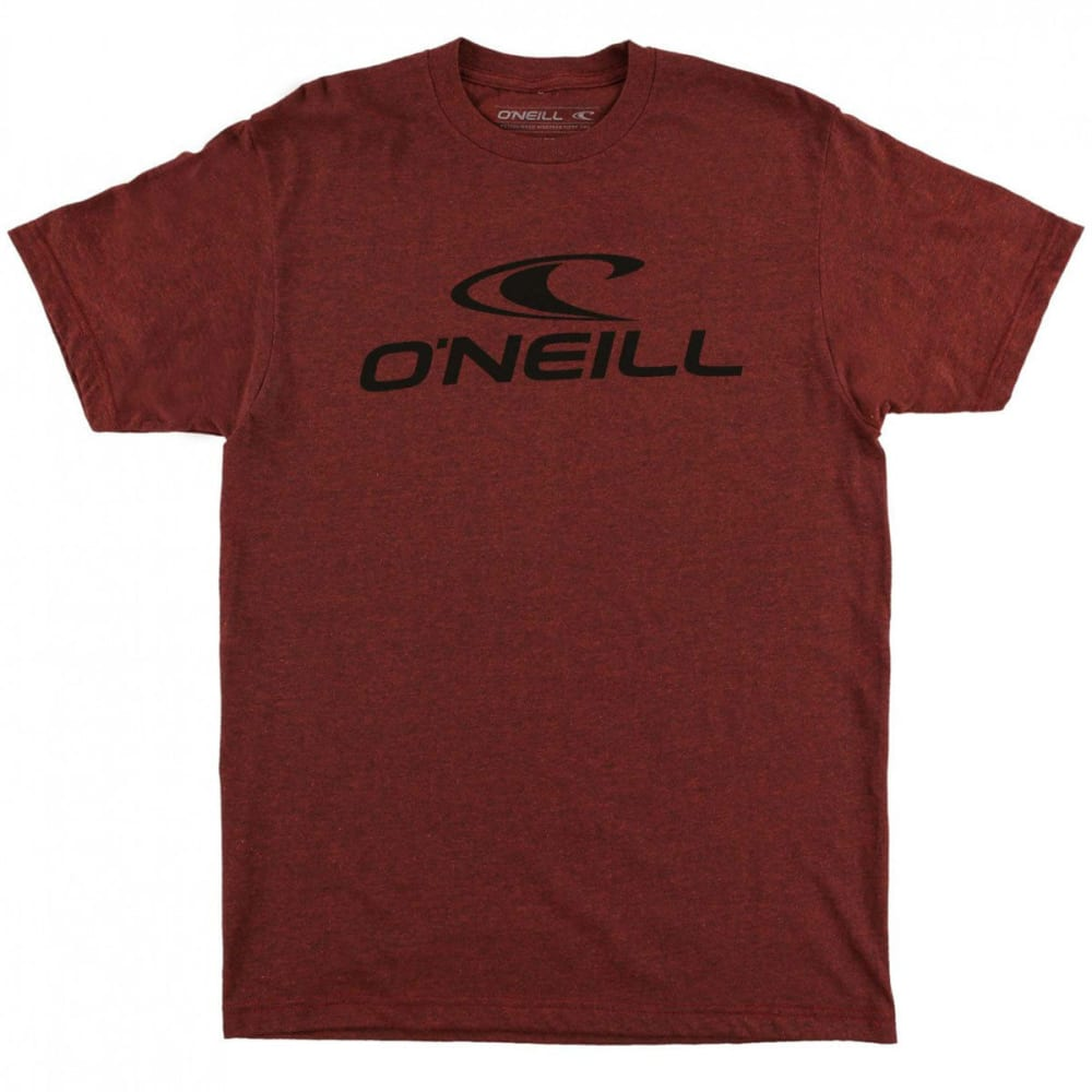 O'NEILL Guys' City Limits Short-Sleeve Tee - BRICK BLK HTR -BRN