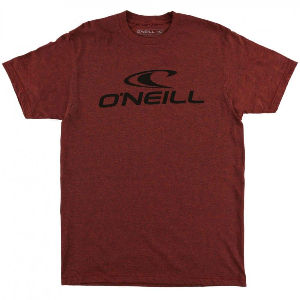 O'NEILL Guys' City Limits Short-Sleeve Tee - BRICK BLK HTR -BRN