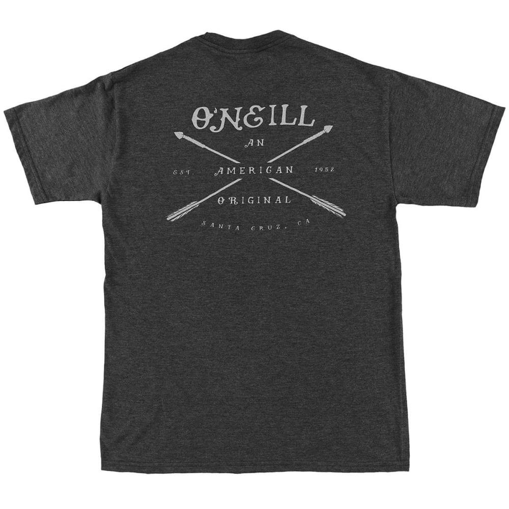 O'NEILL Guys' Arrows Short-Sleeve Tee - HBK- HEATHER BLACK