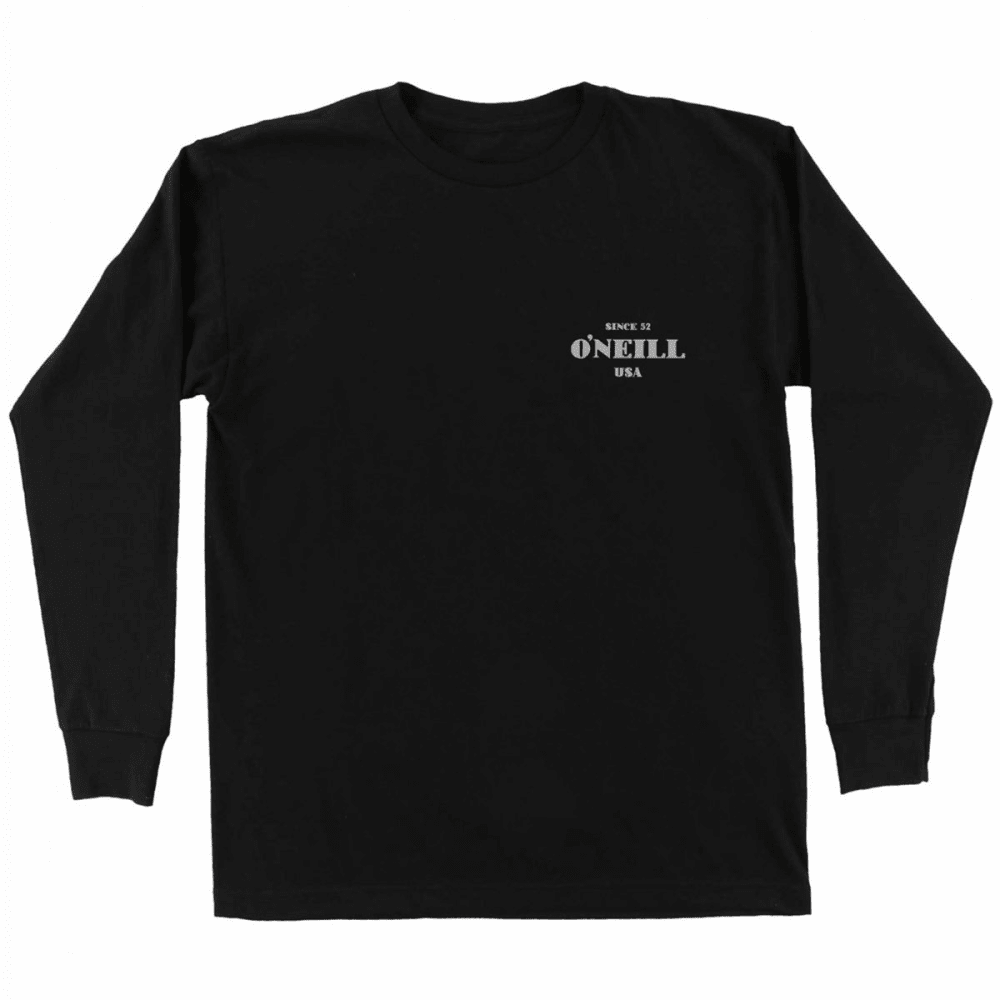 O'NEILL Guys' Signage Long-Sleeve Tee - BLK- BLACK