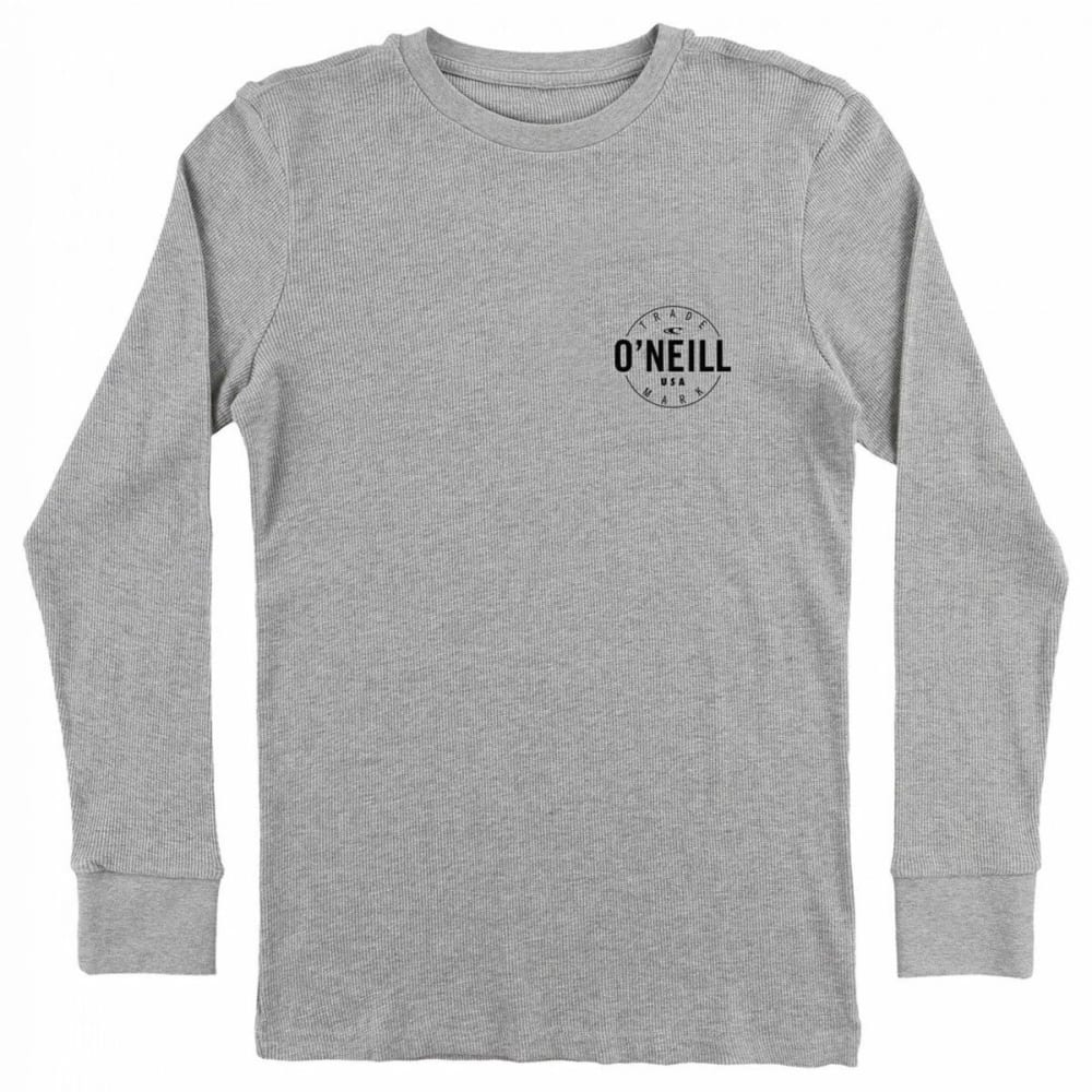O'NEILL Guys' Agent Thermal Long-Sleeve Shirt - MHT- MEDIUM HTR GREY