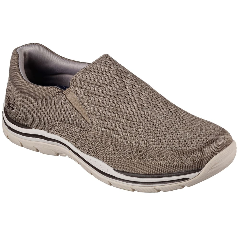 SKECHERS Men's Relaxed Fit: Expected – Gomel Slip-On Shoes, Taupe - TAUPE