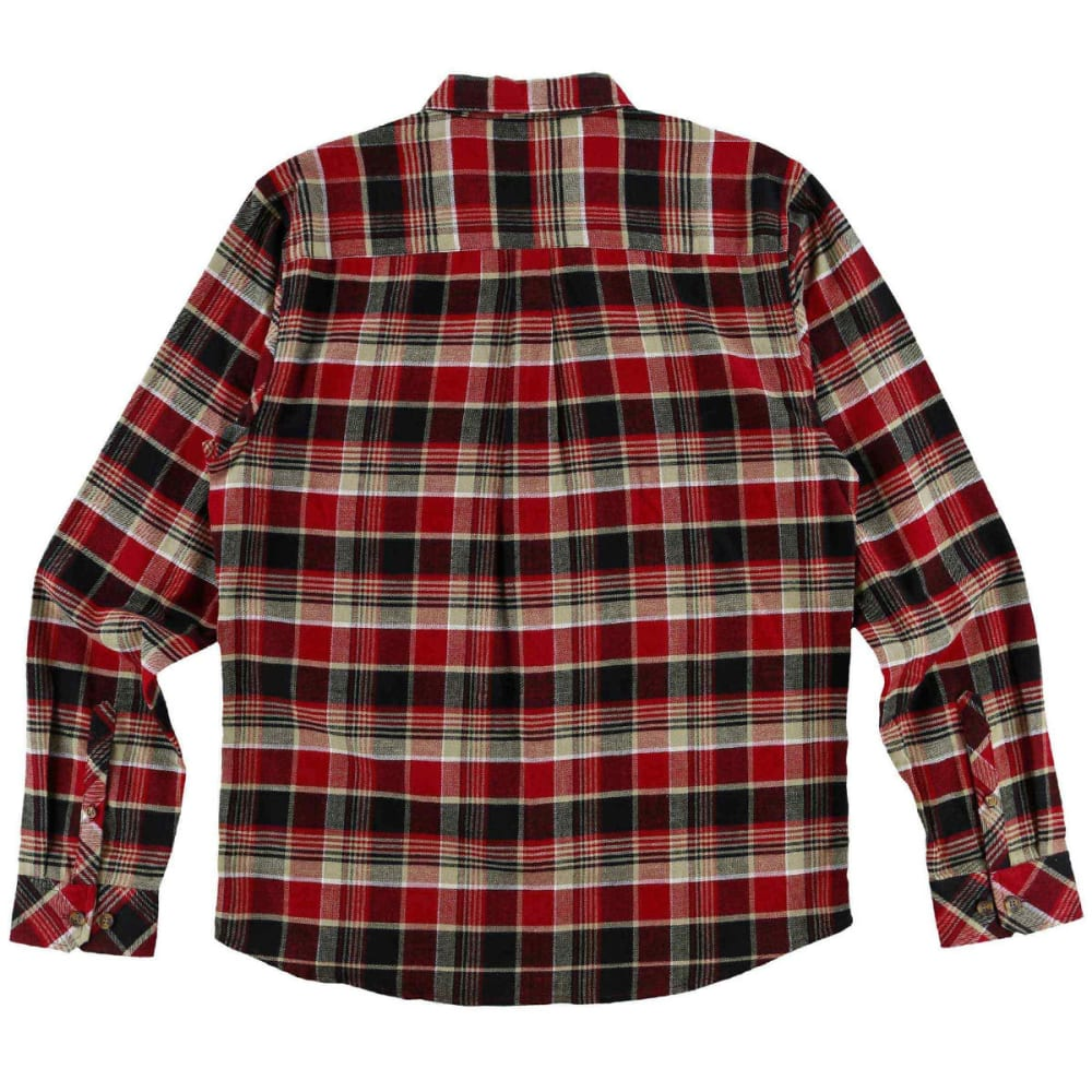 O'NEILL Guys' Redmond Flannel Long-Sleeve Shirt - CRI-CRIMSON
