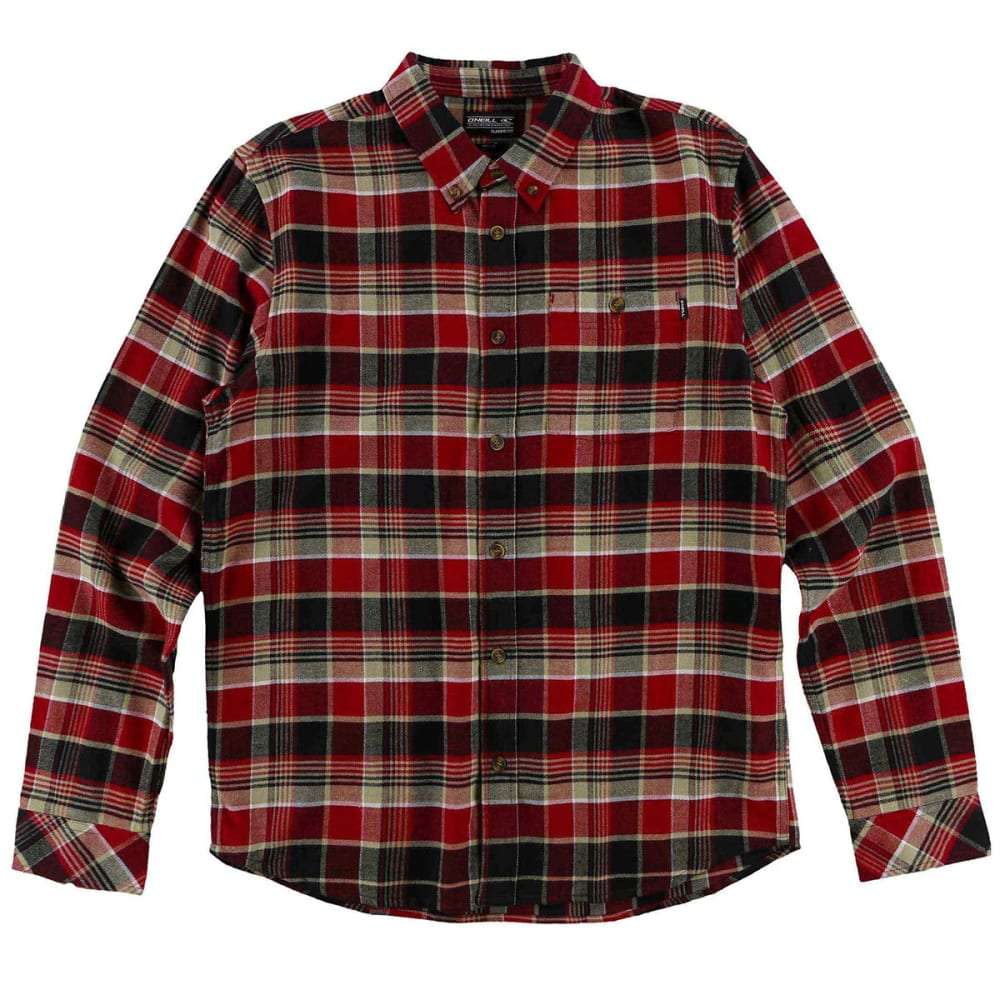 O'NEILL Guys' Redmond Flannel Long-Sleeve Shirt S