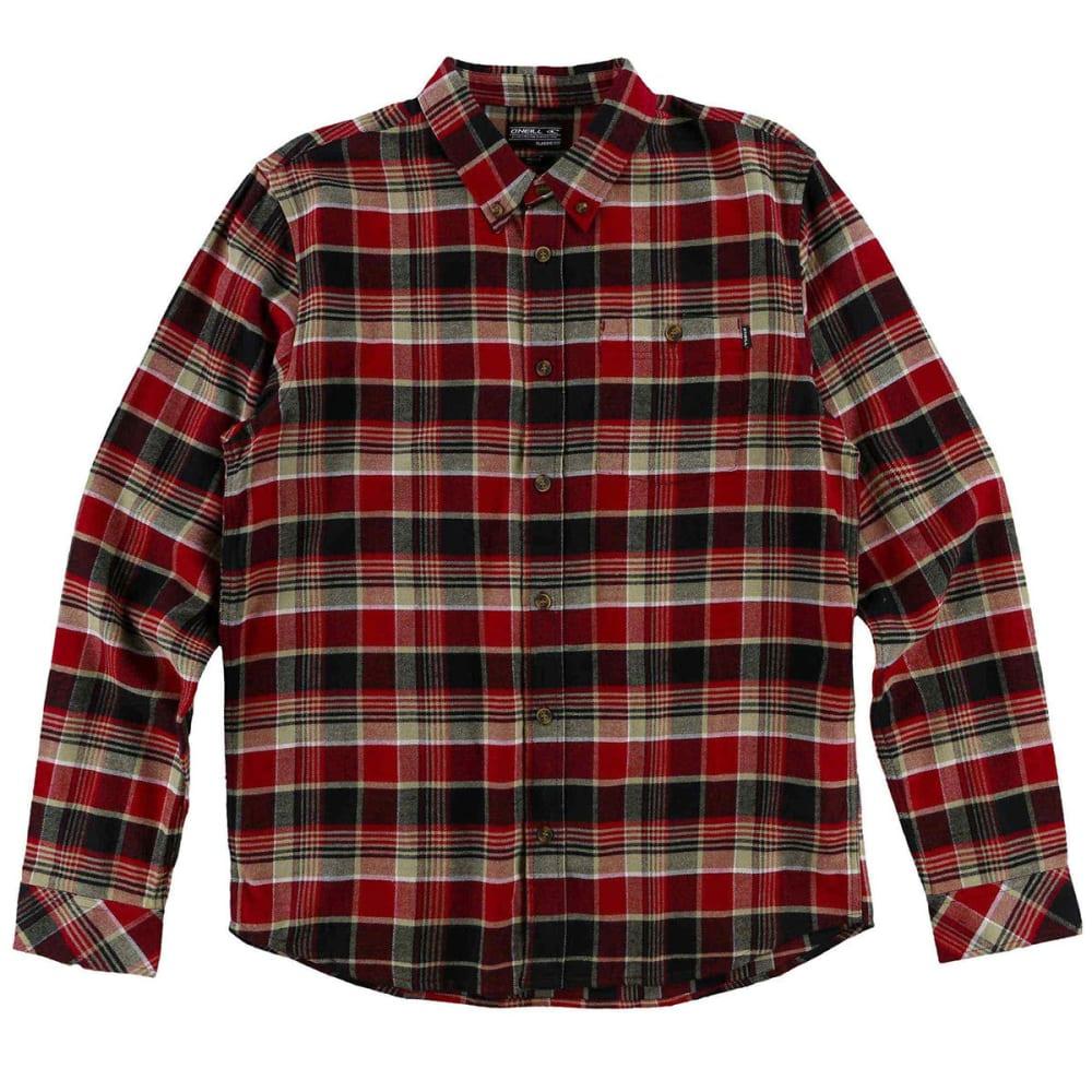 O'NEILL Guys' Redmond Flannel Long-Sleeve Shirt M