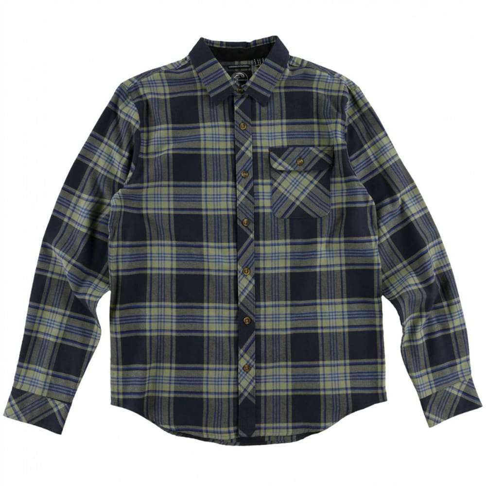 O'neill Guys' Watt Flannel Long-Sleeve Shirt - Blue, M