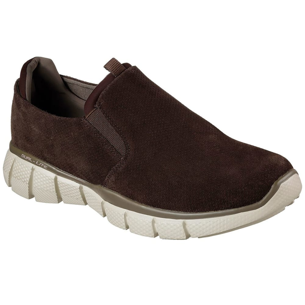 SKECHERS Men's Equalizer 2.0 - Lodini Slip-On Casual Shoes, Chocolate, Wide 7.5