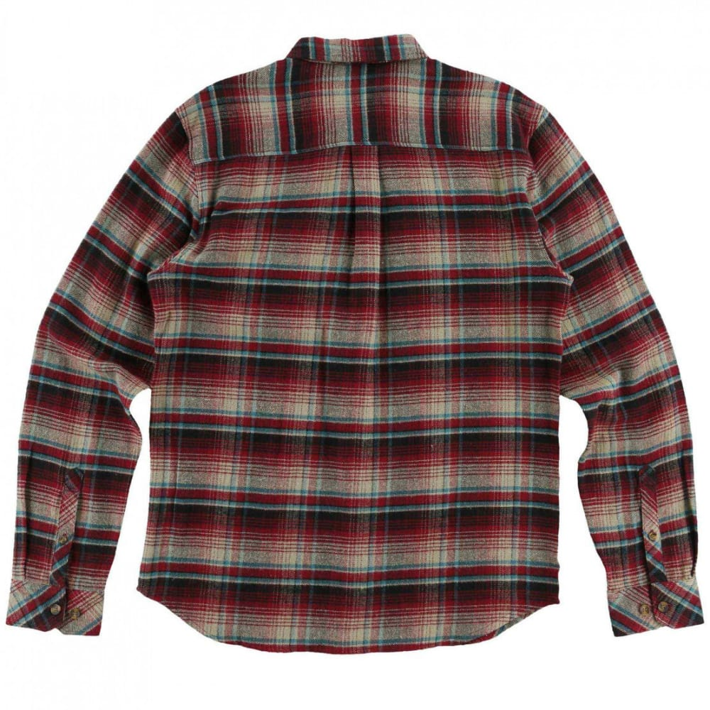 O'NEILL Guys' Butler Flannel Long-Sleeve Shirt - CRI-CRIMSON