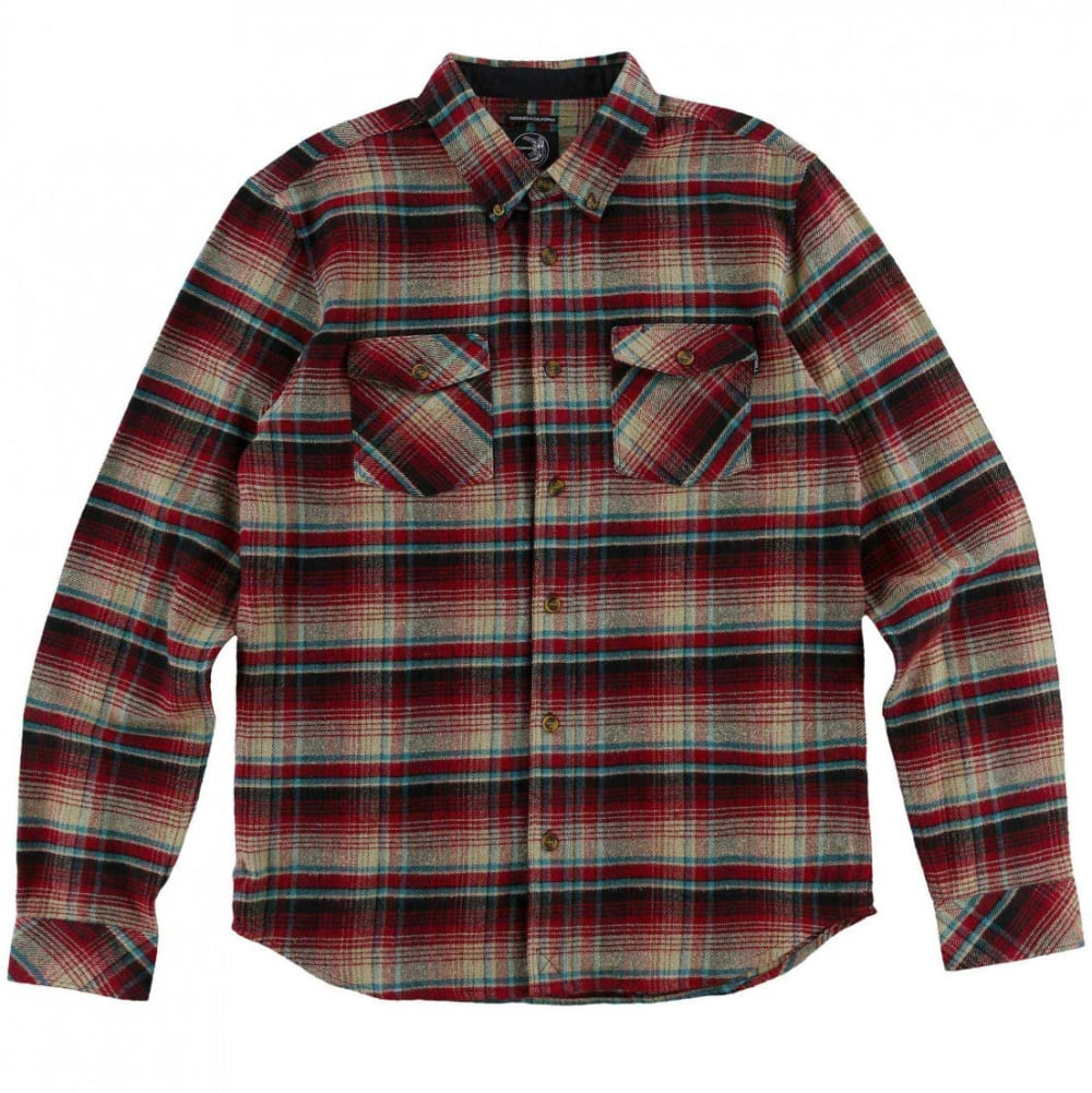 O'neill Guys' Butler Flannel Long-Sleeve Shirt - Red, L
