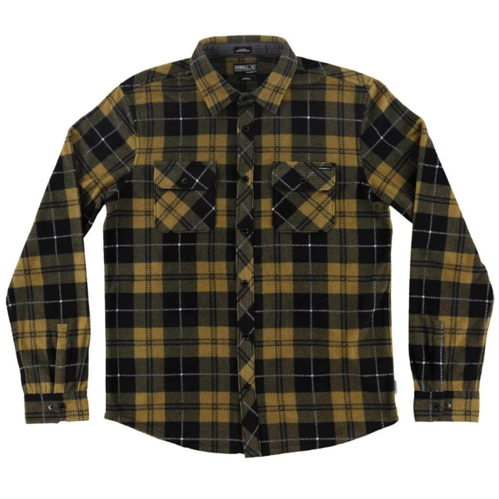 O'NEILL Guys' Glacier Plaid Long-Sleeve Shirt - DARK BROWN/MOCHA-MOC