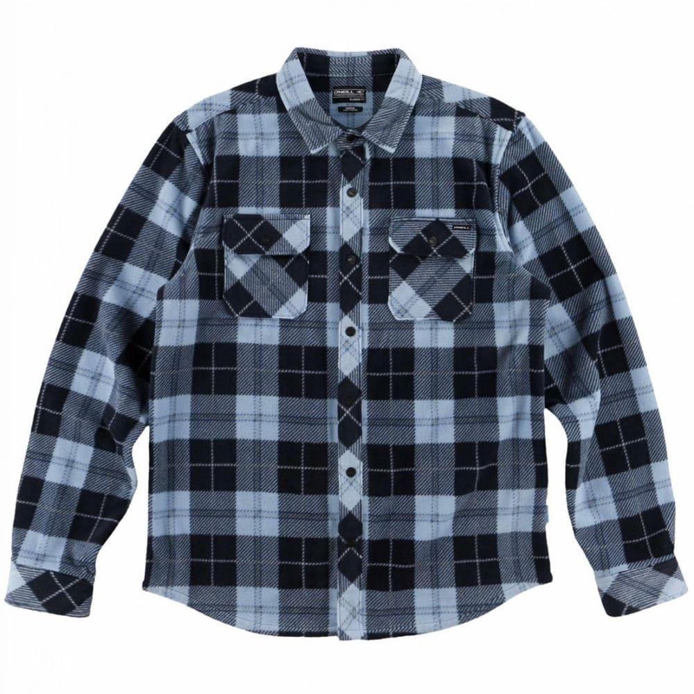 O'NEILL Guys' Glacier Plaid Long-Sleeve Shirt S