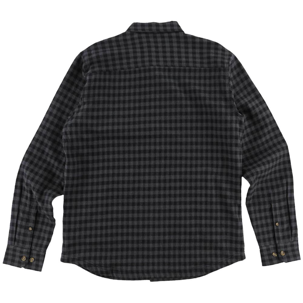 O'NEILL Guys' Gronk Lined Flannel Long-Sleeve Shirt - BLK-BLACK