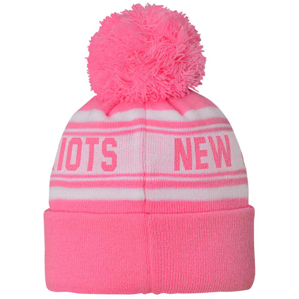 NEW ENGLAND PATRIOTS Little Girls' Pink Cuffed Pom Knit Beanie - PINK