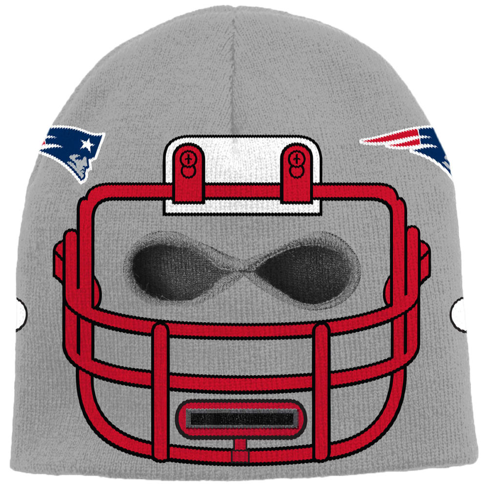 NEW ENGLAND PATRIOTS Big Kids' Knit Helmet Hat - NAVY