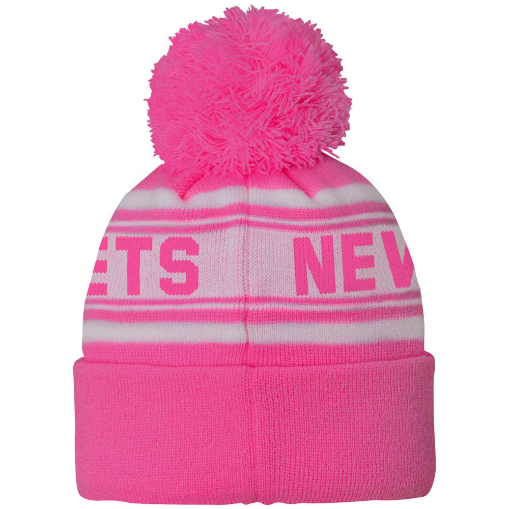 NEW YORK JETS Little Girls' Pink Cuffed Pom Knit Beanie - PINK