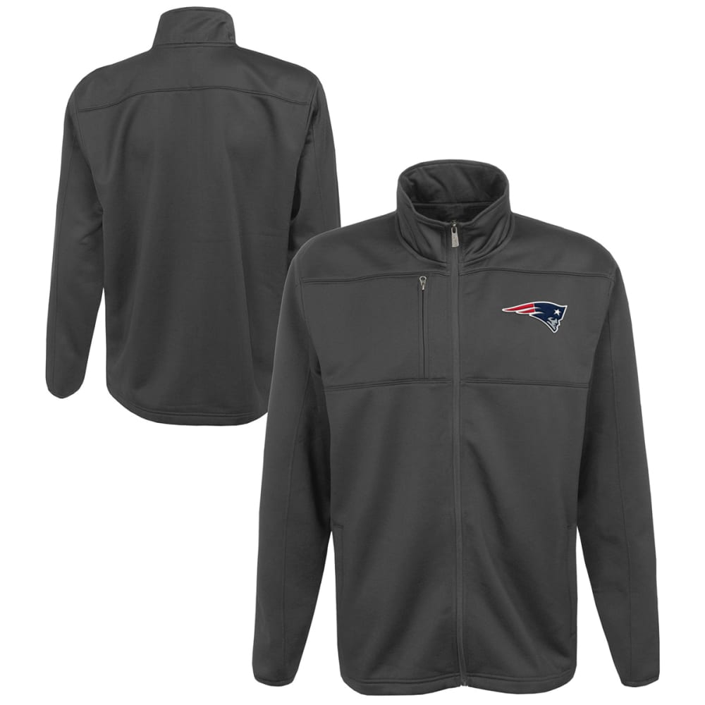 NEW ENGLAND PATRIOTS Boys' Superior Bonded Fleece Full-Zip Jacket - GREY